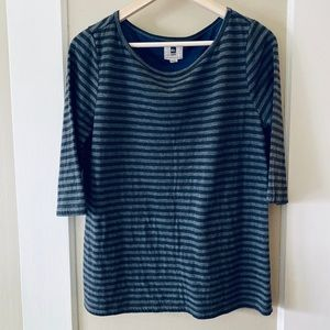 Gray and black striped quicksilver women's shirt